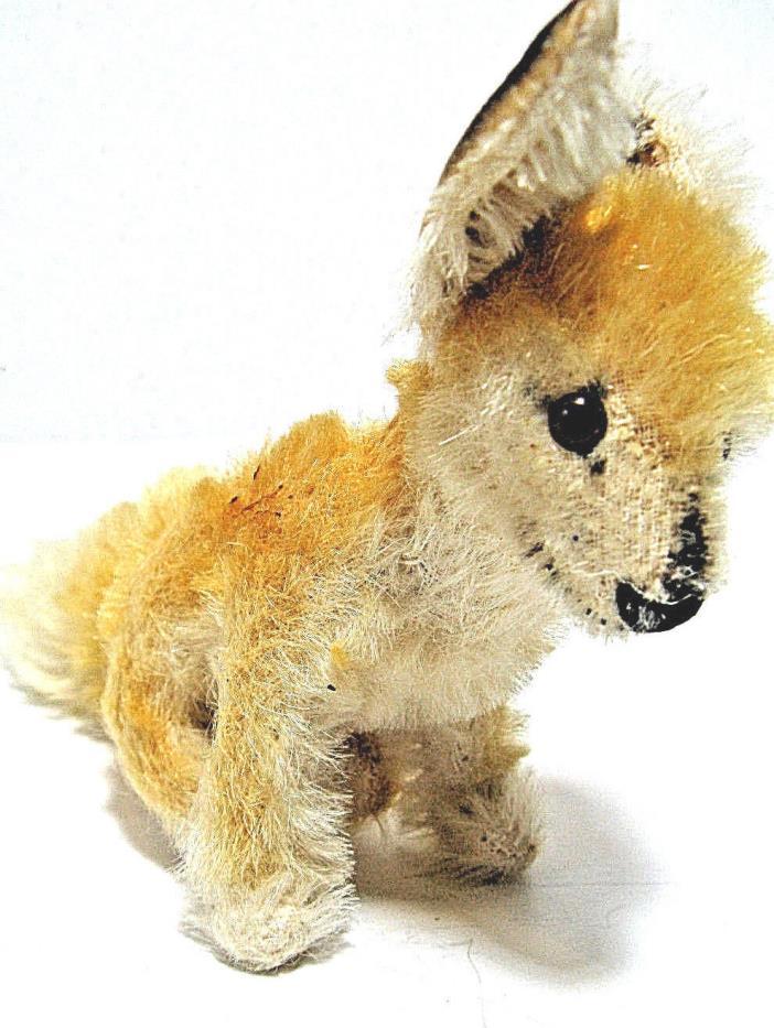 Vintage Steiff Mohair Plush Stuffed Toy Xorry FOX WITH STEIFF  Ear Button