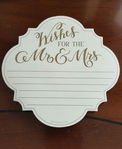 Wishes for the Mr & Mrs Notepad