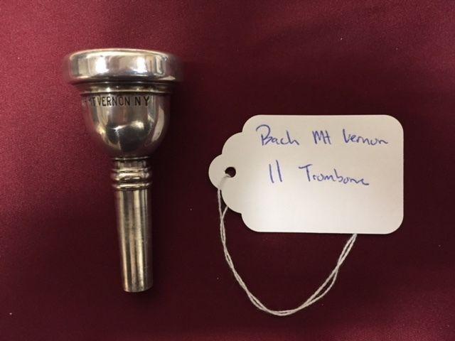 Bach Mt Vernon 11 Trombone Mouthpiece