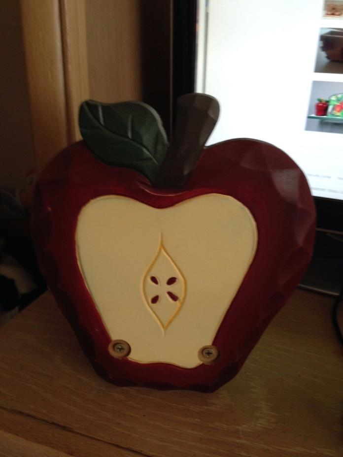 Wooden Apple Napkin Holder Country Kitchen Apple Decor