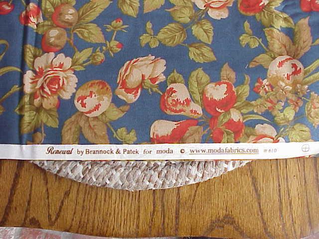 1 Yard Floral & Fruit Moda Fabrics Renewal By Bannock & Patek #610