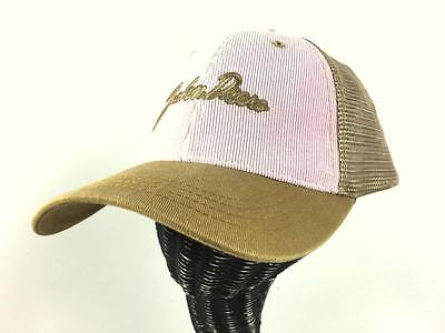 pink tan JOHN DEERE hat trucker baseball cap farmer corduroy mesh ONE SIZE