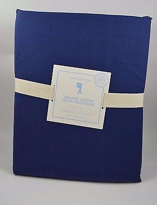 Pottery Barn Kids Organic Cotton Sheet Set Queen Navy Blue
