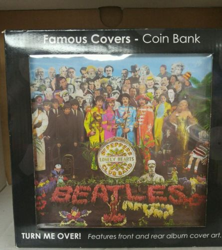 NIB 2013The Beatles Sgt. Peppers Lonely Hearts Club Band ALBUM COVER Coin Bank
