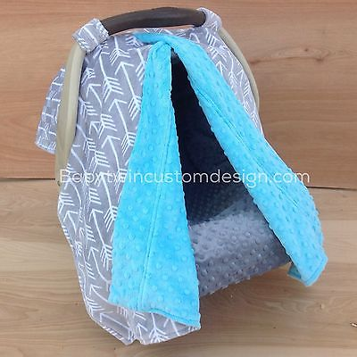 2 in 1 Car Seat Canopy Tent- Archer/ Turquoise