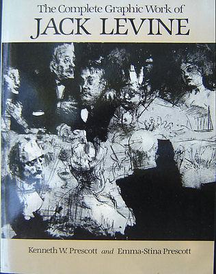 1984 JACK LEVINE complete Graphic Work AUTOGRAPHED jewish POLITICAL SATIRIST