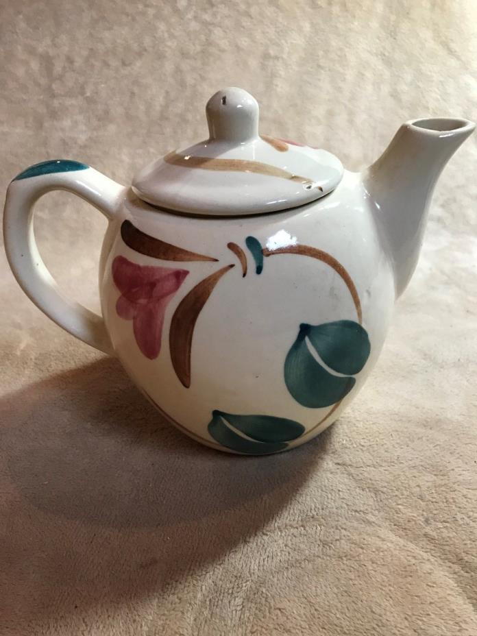 Vintage~Tea Pot~RED WING~Vibrant~Handpainted~RARE~Decor~Collect~Craft~Planter~