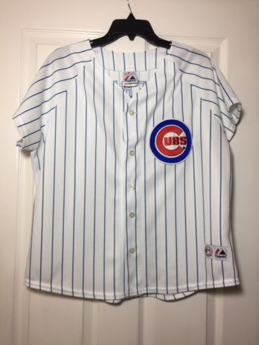 Ryan Theriot Chicago Cubs Womens Baseball Jersey size XL Majestic Genuine Merch