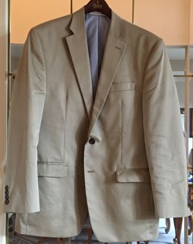 Chaps 100% Cotton Tan Blazer, 40R