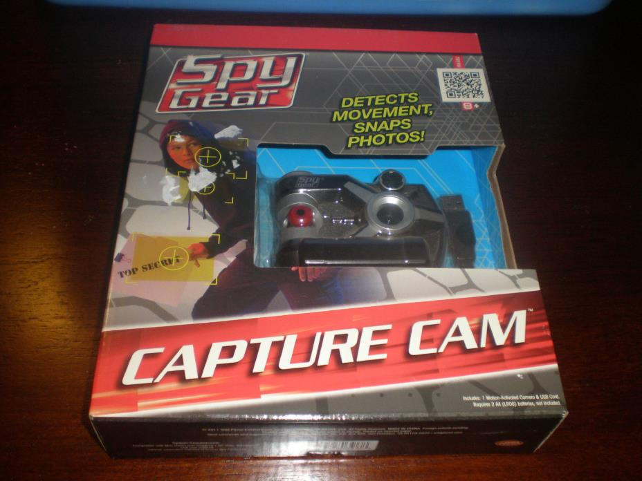 SPY GEAR CAPTURE CAM - MOTION ACTIVATED CAMERA & USB CORD FOR COMPUTER UPLOADING