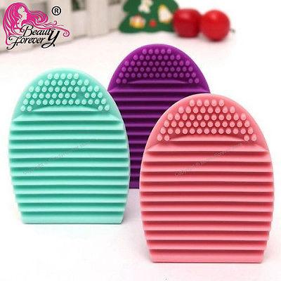 3pc Beauty Glove MakeUp Washing BrushEgg New Cleaner Egg Scrubber Board Brushegg