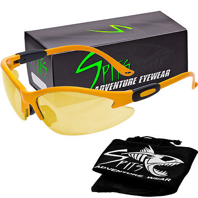 Spits Cougar Safety Glasses - Yellow Frame - Yellow Anti-Fog Lenses
