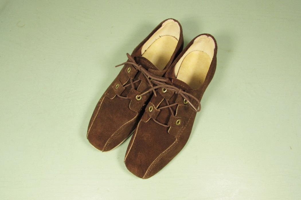 Hyde Bowling Shoes - Vintage Brown Suede Women Size 5.5