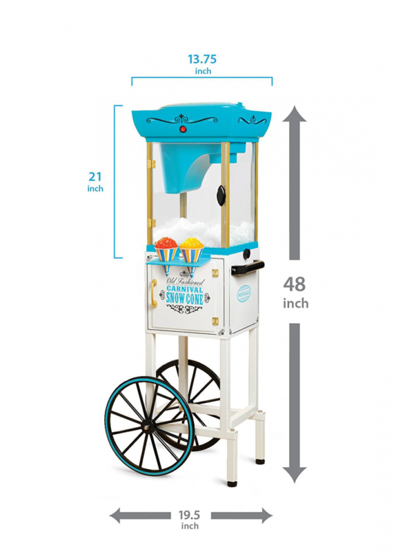 48-Inch Tall Vintage Collection Snow Cone Cart