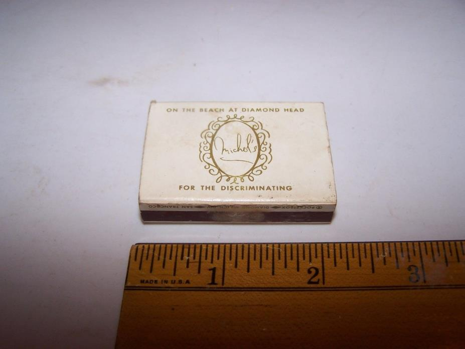 THE COLONY SURF Diamond Match Box Pocketbox BEACH at DIAMOND HEAD Wood Matches