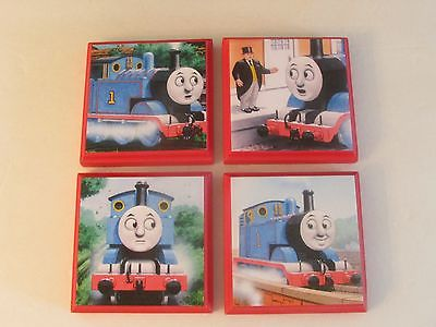 Thomas the Train Room Wall Plaques - Set of 4 - Thomas Wall Decor Thomas Bedroom