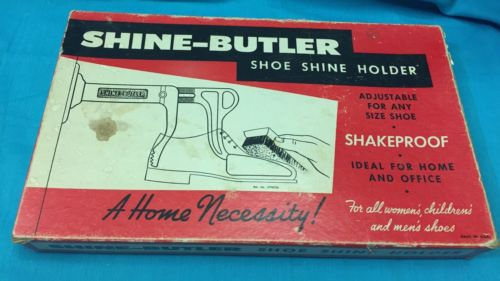 Vintage Shine Butler Shoe Shine Holder Original Box