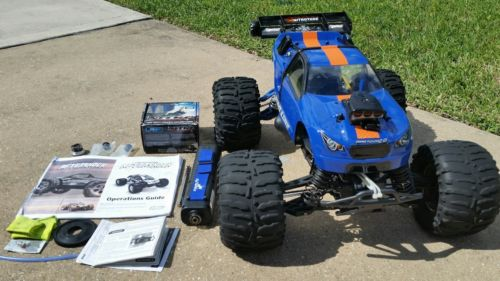 Losi Aftershock upgraded lrp engine with proline body traxxas losi hpi rc nitro