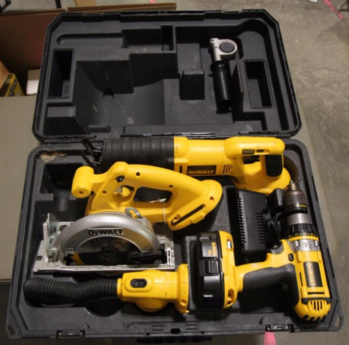 Dewalt 18v Cordless NI-Cd Combo Kit with Hard Case FREE SHIPPING