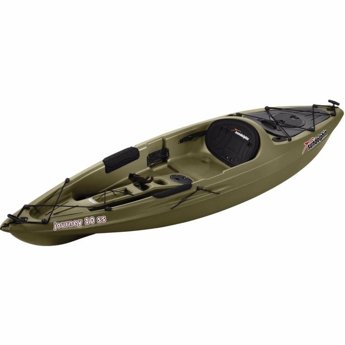 Olive, 10' Sit-on Fishing Kayak Lake River Large Lightweight with Paddle Carry