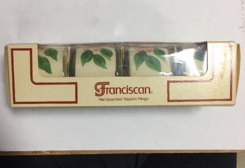 Franciscan Desert Rose Napkin Ring Set Of 4