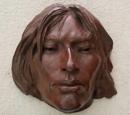 GLENNA GOODACRE Large Bronze Indian Head Sculpture