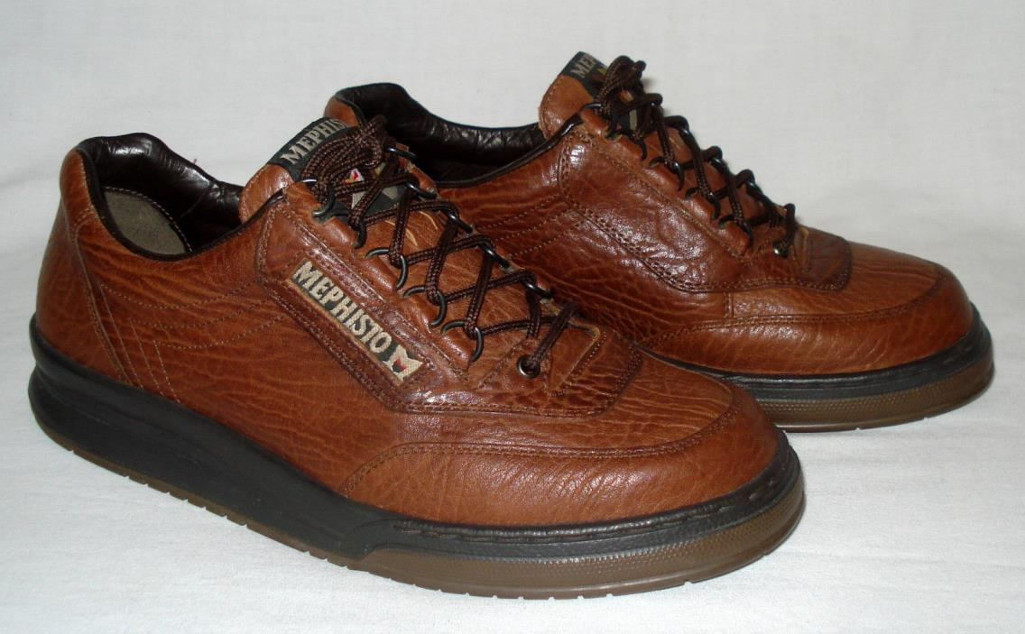 7.5 D MEPHISTO MATCH men's Lace-up Brown Leather Oxford Dress Casual Shoe Eur 7