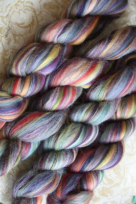 Merino Wool Top Roving Granada Multi Color 1 oz