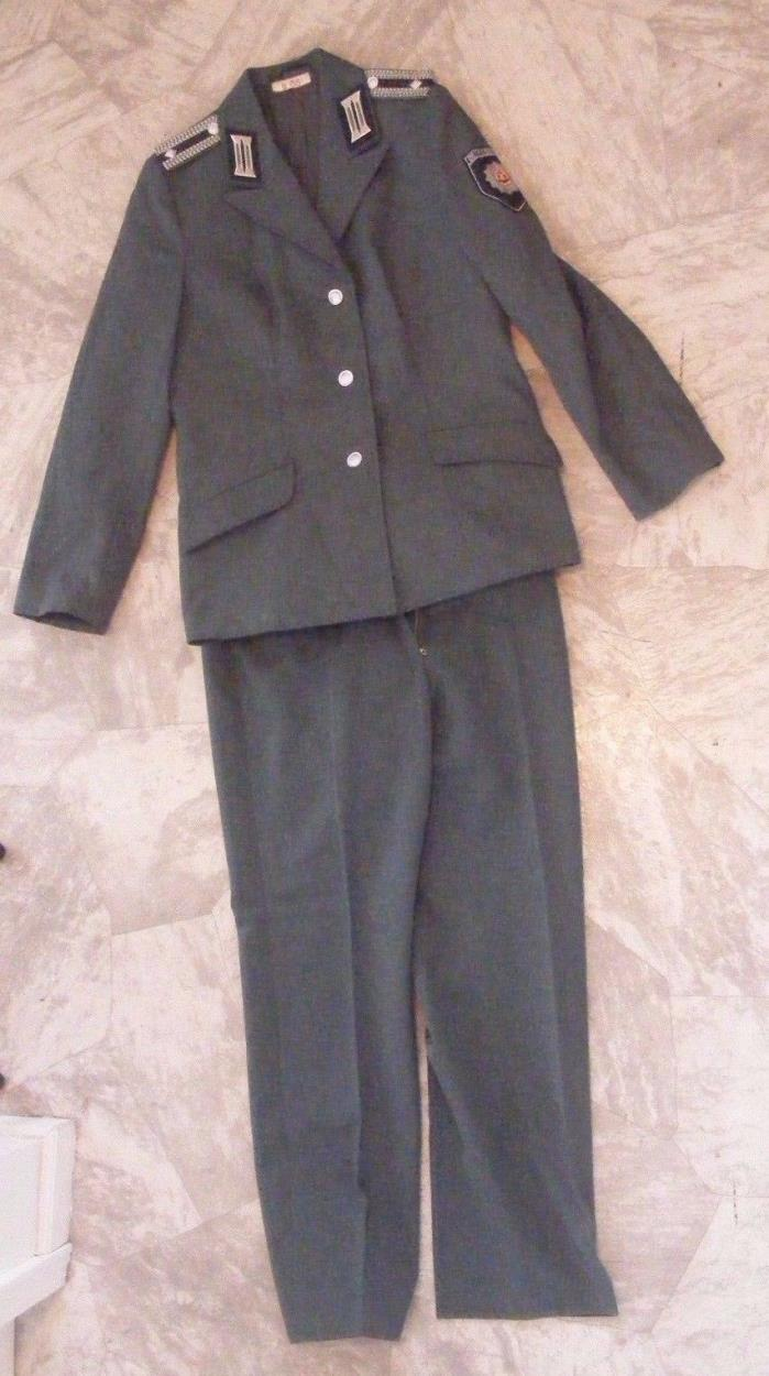 Vintage East German BETRIEBSSCHUTZ Police Security Uniform Jacket Pants Germany