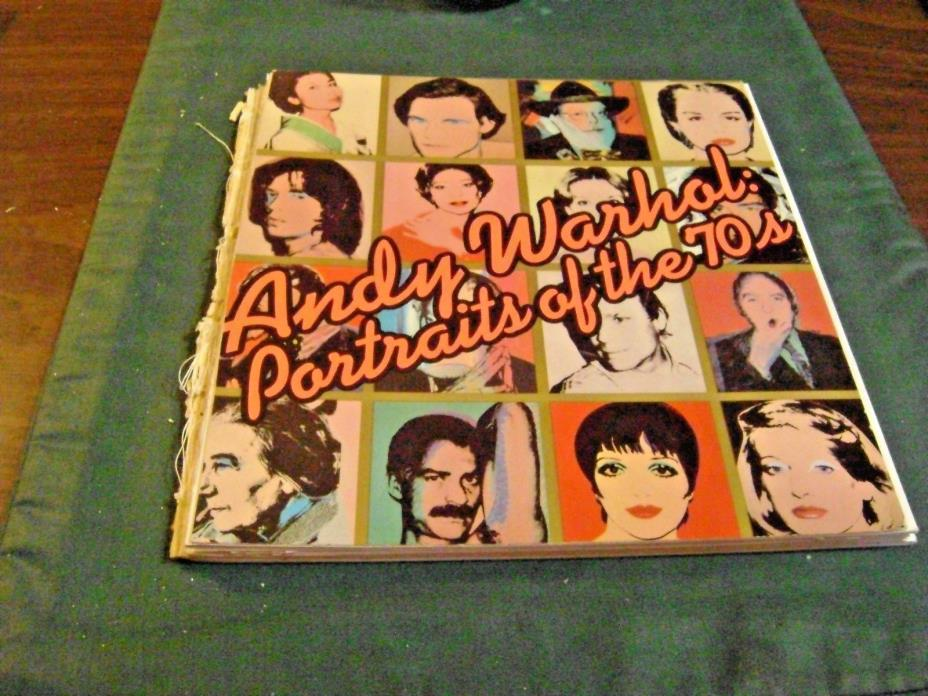 PARTIAL ANDY WARHOL PORTRAITS OF THE 70'S BOOK