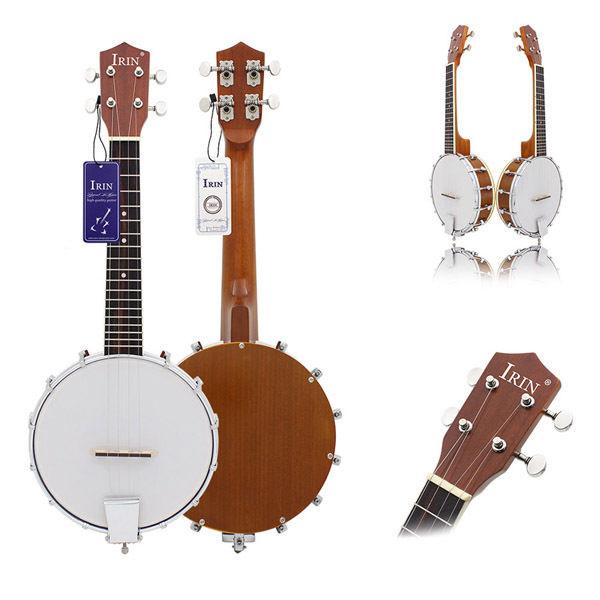 IRIN Four-String Exquisite Professional Banjo Tenor Plectrum Bluegrass Ragtime