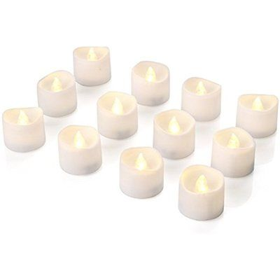 Hanukkah Candles Homemory Battery Tea Lights With Timer, Auto On Off LED Candle,