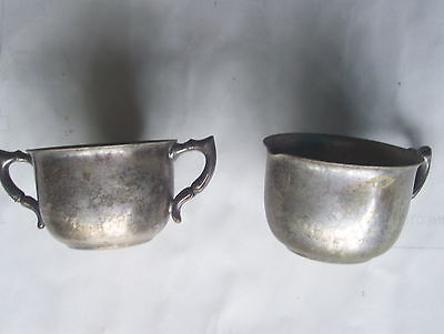 Ssilver Plated Creamer and Sugar Bowl