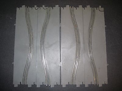 (2) 1965 Revell 1/32 Scale Slot Car Chicane Track Sections w/ Broken Tabs