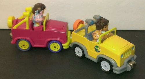 jeep diecast toy car truck wrangler magnet Viacom learning curve pink yellow