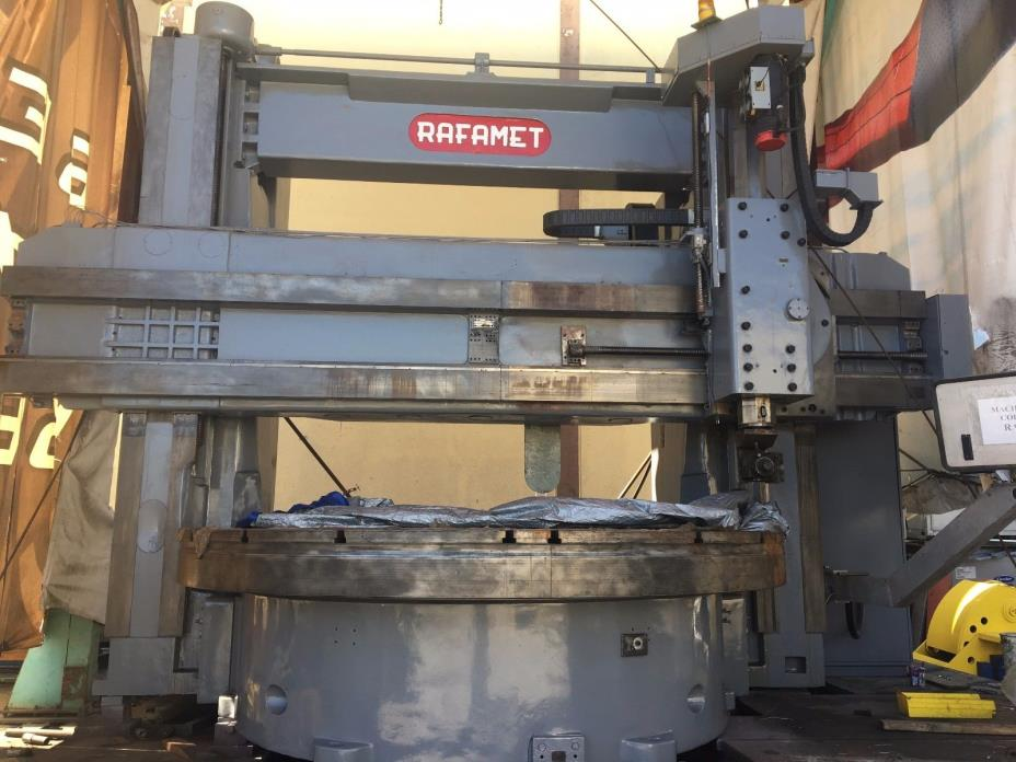 Rafamet VTL Vertical Turning Lathe CNC Fanuc 21i T control NEW RETROFIT!!