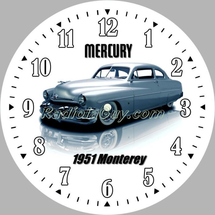 PAM Clock Face 1951 Mercury