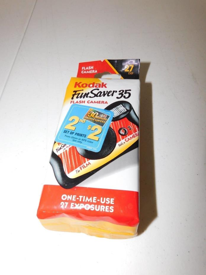 Kodak - Fun Saver 35 Flash Camera - One-time-use - 27 Exposures