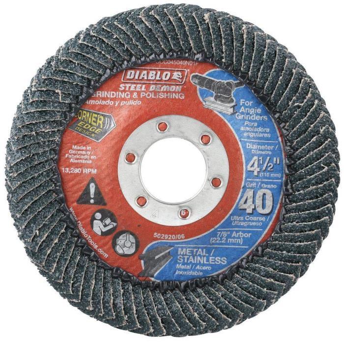 Diablo Angle Grinder Flap Disc Wheel Grinding Polishing Tool 7/8 inch Arbor New