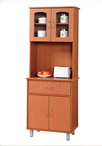 Hodedah Import Kitchen Cabinet, Cherry