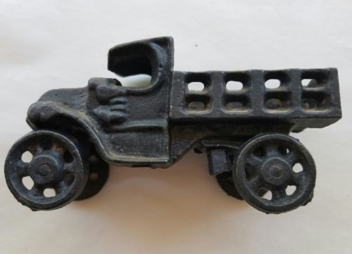 Antique Black Cast Iron Toy Pickup Truck