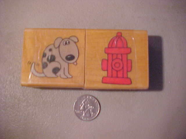 Rubber Stamp   DOG AND FIRE HYDRANT     INKADINKADO