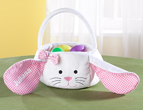 Personalized Pink Bunny Easter Basket