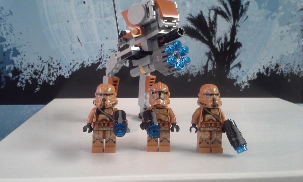 LEGO STAR WARS 75089 CLONE TROOPER CAMO MINIFIGURE LOT OF 3 w/ WALKER GEONOSIS