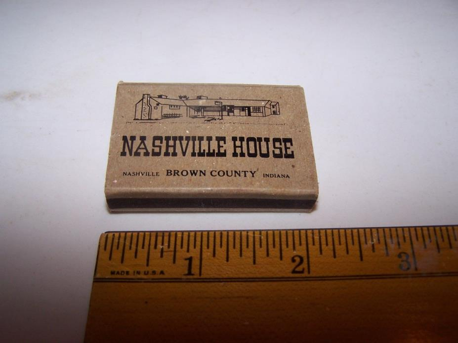 NASHVILLE HOUSE Diamond Match Box Pocketbox BROWN COUNTY INDIANA Wood Matches