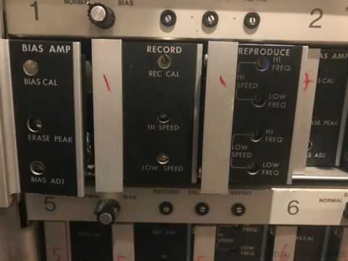 AMPEX AUDIO CARDS MM1200 MM1100 AG440. Repro/Record/Bias