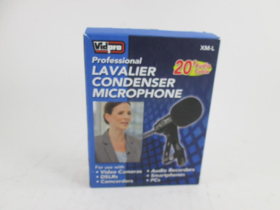 Vidpro XM-L Professional Lavalier Condenser Microphone for GoPro HERO3