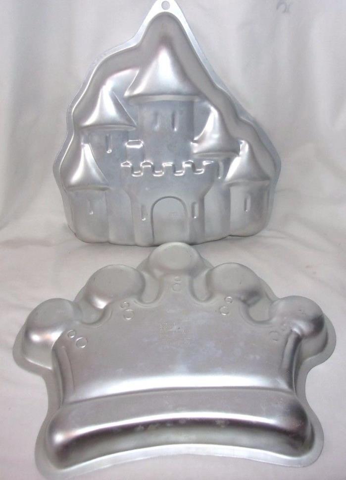 Wilton princess/queen/king CROWN & CASTLE Cake Pan Lot jello Mold 2105-1015,2031