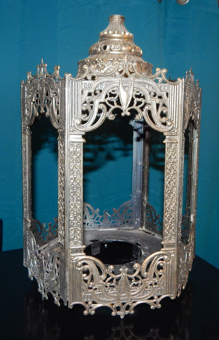 Vintage Antique Medieval Turkish Morroccan Chandelier Lantern Brass Refurbish