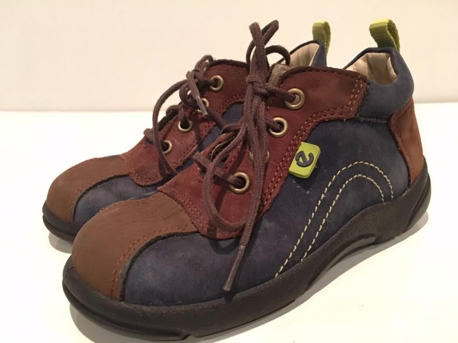 ECCO Toddler Boys' Leather Hi Top Shoes Size 23 US 7